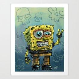 Grunge Bob Art Print