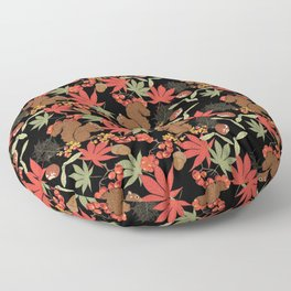 Autumn squirrel Floor Pillow