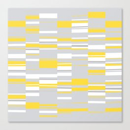 Mosaic Rectangles in Yellow Gray White #design #society6 #artprints Canvas Print