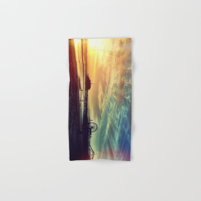 Santa Monica Sunset Hand & Bath Towel