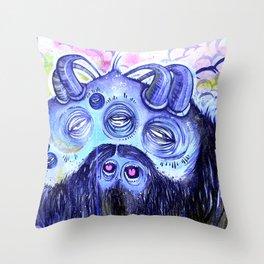 Samsquanch Throw Pillow