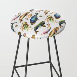 Whales and a Little Squid Bar Stool