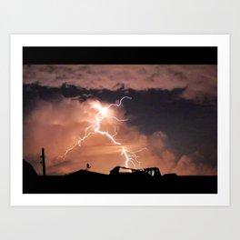 Mister Lightning Art Print