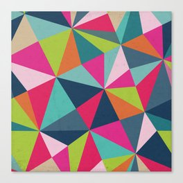 Geometric Triangle Pattern  - Spring Color Palette - Canvas Print