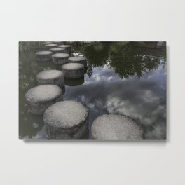 stepping stones; pathway through the clouds Metal Print