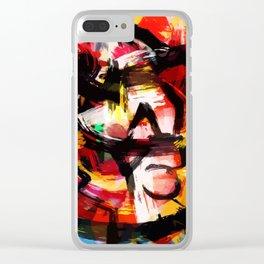Abstraction Lyrique avec vitesse Clear iPhone Case