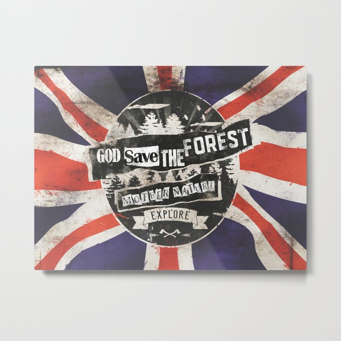 God save the forest Metal Print