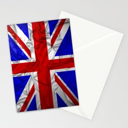 Wrinkled Union Jack Flag Stationery Cards