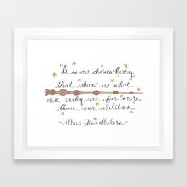 Choices Dumbledore J.K. Rowling Quote Framed Art Print