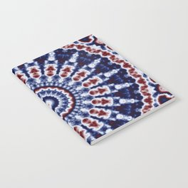 Mandala Fractal in Red White and Blue 02 Notebook