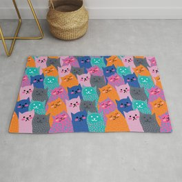 A Bunch of Cats Rug
