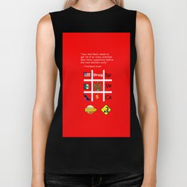 Red Party Biker Tank