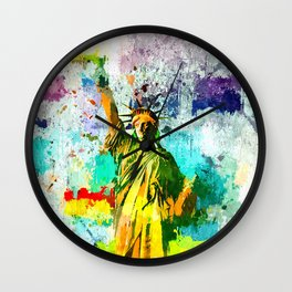 Statue of Liberty Grunge Wall Clock