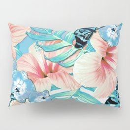 Tropical Spring Aqua Pillow Sham