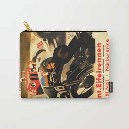 Nurburgring Race, vintage poster Carry-All Pouch