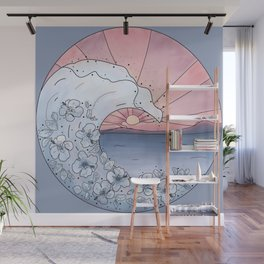 Flower Wave Wall Mural