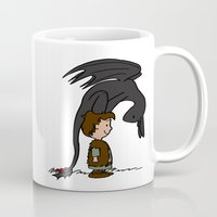 hiccup Mugs featuring He's Your Dragon, Hiccup by mikaelak