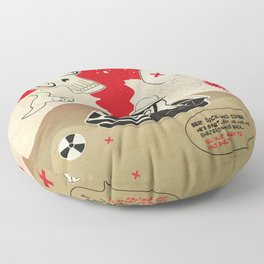 Duck and Cover Propaganda  Floor Pillow