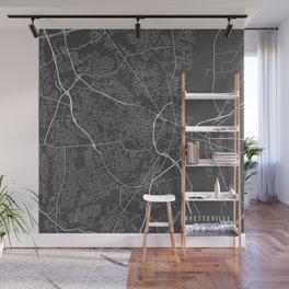 Fayetteville Map, USA - Gray Wall Mural