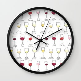 Colors of Wine Wall Clock