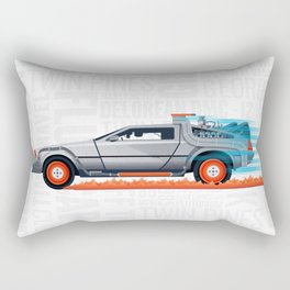 Great Scott! Back to the Future Delorean Print Rectangular Pillow