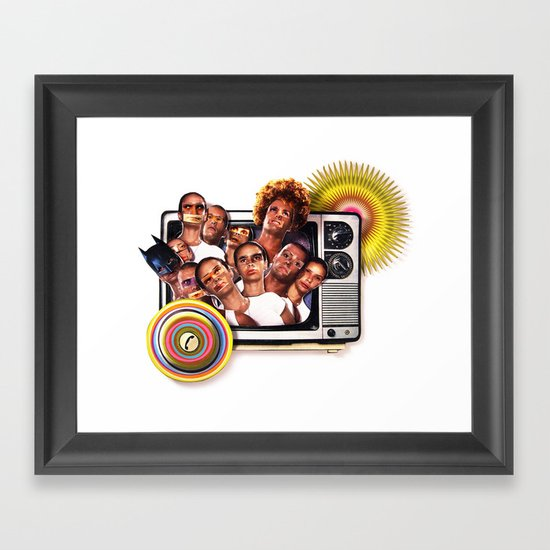 Cannon fodder | Collage Framed Art Print