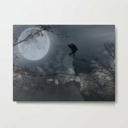 There's A Moon Out Tonight Metal Print