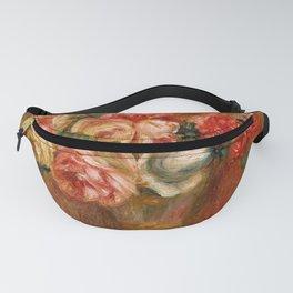 """Auguste Renoir """"Roses dans un vase de Sèvres"""" Fanny Pack"""