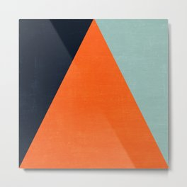 mod triangles - autumn Metal Print