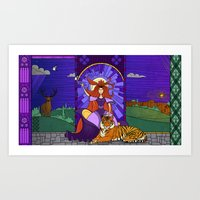 stained glass Art Prints featuring Stained glass by Rafapasta