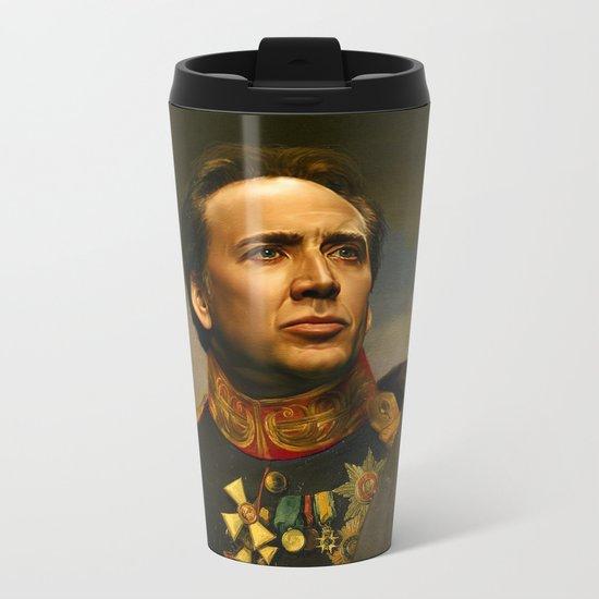 Nicolas Cage - replaceface Metal Travel Mug
