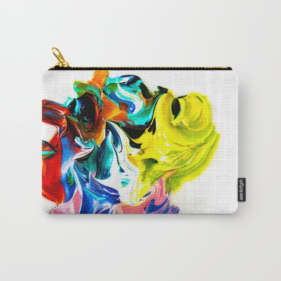 paint on a white background Carry-All Pouch