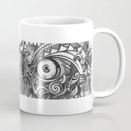 Rough Raw Rugged Punk Evil Eyes Zen Doodle Coffee Mug