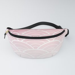 Pink Ombre Japanese Waves Pattern Fanny Pack