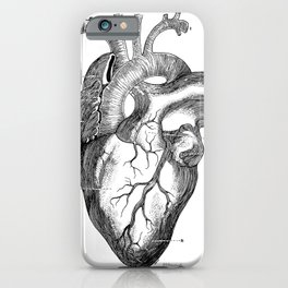 Anatomic hearth engraving iPhone Case