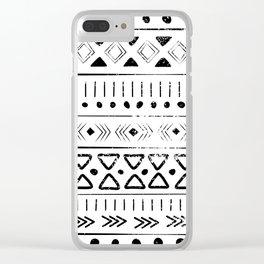 Boho Tribal Pattern Clear iPhone Case