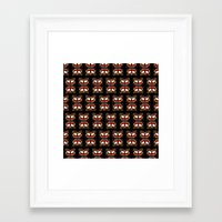 givenchy Framed Art Prints featuring Givenchy mask by cvrcak