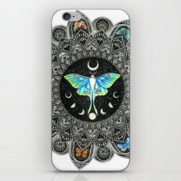 Lunar Moth Mandala iPhone Skin