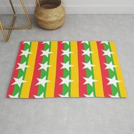 Flag of Myanmar 2-ဗမာ, မြန်မာ, Burma,Burmese,Myanmese,Naypyidaw, Yangon, Rangoon. Rug
