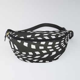 Black and White Pattern Fanny Pack