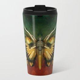 """""""Dark butterflies flying over a sky of fire"""" Travel Mug"""