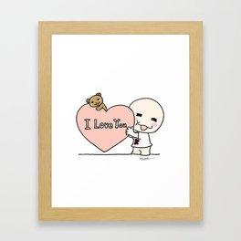 K Young-LOVE Framed Art Print