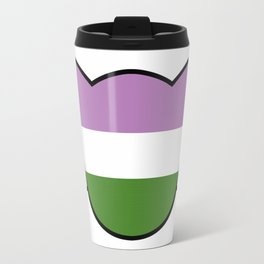 Genderqueer Cat Flag Travel Mug