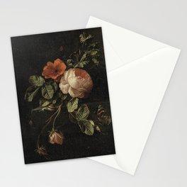 Elias van den Broeck - Still life with roses - 1670-1708 Stationery Cards