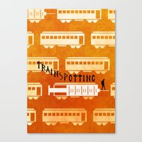 trainspotting Canvas Prints featuring Trainspotting by grrrenadine