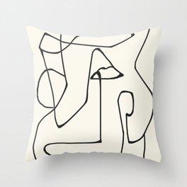 Abstract line art 36 Throw Pillow
