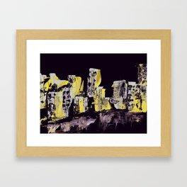 Yellow Purple Cityscape Framed Art Print