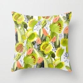 Carnivorous Plants Throw Pillow
