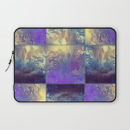 Abstract Silver Stiched canvas Laptop Sleeve