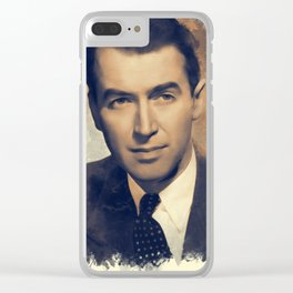 """James """"Jimmy"""" Stewart, Hollywood Legend Clear iPhone Case"""